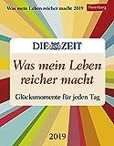 Was mein Leben reicher macht - Glücksmomente für jeden Tag - Kalender 2019 - Harenberg-Verlag - Tagesabreißkalender - 12,5 cm x 16 cm