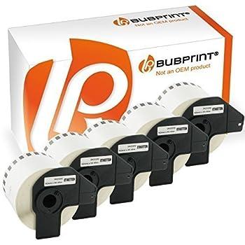 Bubprint 5 Etiketten kompatibel f/ür Brother DK-22223 DK 22223 f/ür P-Touch QL 500 550 570 700 710W 720NW 800 810W QL820NWB 1050 1060N 50mm x 30,48m Set