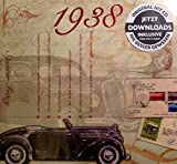 1938 GEBURTSTAGS-GESCHENKE - Kompilation Musik CD - Leere Jahr Grußkarte Geschenk - 20 Original HitParaden Songs - Karte misst 15 x 14 cm
