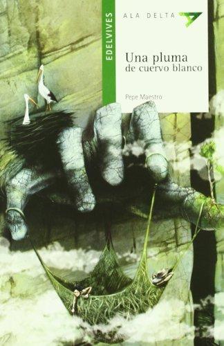 una-pluma-de-cuervo-blanco-ala-delta-serie-verde
