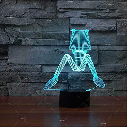 PDDXBB Elektrische Lampe 3D Künstliche Umwelt Kreative Geschenk Lumineszierende Tableled Nachtlicht USB Led-Lampe Sieben Farben 215 * 173 * 87 Mm (USB Version Batterie Touch) -