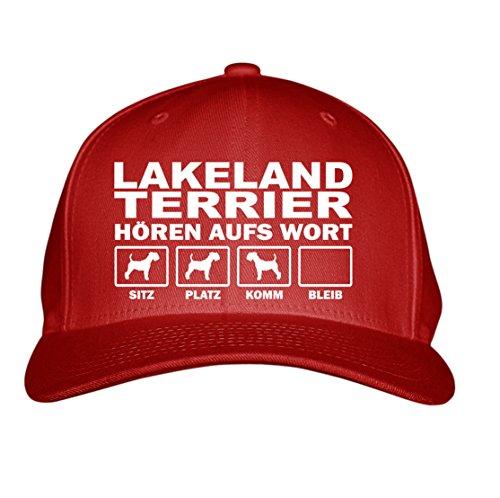 SIVIWONDER CAP - LAKELAND TERRIER Jagd Jagdhund - HÖREN aufs WORT - Baumwoll 6-Panel red Lakeland Cap