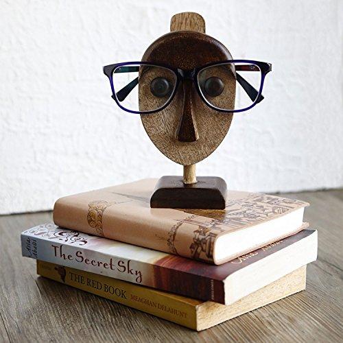 Store Indya, Decorativo degli occhiali titolare spettacolo display basamento di legno casa ufficio Desk Decor Accessori
