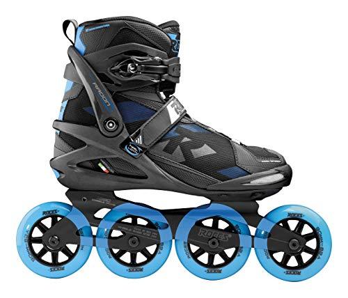 Roces Herren Radon TIF Inline Skates, Black-Brilliant Blue, 47