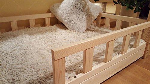 Lit pour enfant avec barrières par Oliveo, Barriers: With, 120 x 60 cm