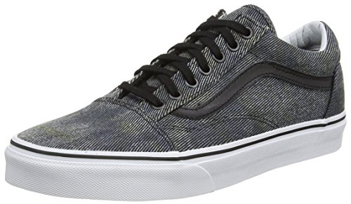 Vans Old Skool, Sneakers Basses Mixte Adulte Noir (Acid Denim/Navy/Black)
