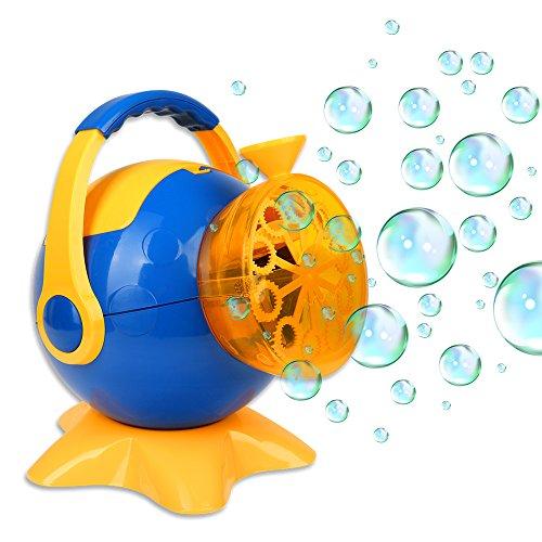 Schramm® Seifenblasenmaschine Bubble Maker Seifenblasen- Maschine Seifenblasenkanone Seifenblasen Bubble Gun wie Seifenblasenpistole Seifenblasen Pistole Pistolen