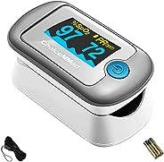 Choicemmed MD300CN330 Dual Color OLED Finger Tip Pulse Oximeter, Pulse blood Oxygen SPO2, PI & PR Measurem