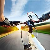 Handyhalterung Fahrrad, Ascher Handyhalterung Fahrrad Smartphone Handyhalter Fahrrad Verstellbar Motorradhalter Halterung für iPhone 7/ 7 Plus/ 6S/ 6S Plus/ 5S Samsung Galaxy S7/ S7 Edge/ S6 Edge / S6 / S5 Smartphones und GPS - 4