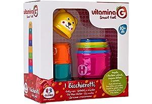 Globo Toys Globo 5185 Vitamina_G Letras y números y Formas apilables Torre Juguete (9 Piezas)