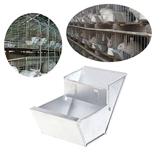 Mangiatoia e abbeveratoio per conigliera, attrezzatura per la ciotola del cibo, strumento per allevamento di animali