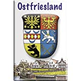 Magnet mit Motiv - Ostfriesland Wappen - Retro Vintage