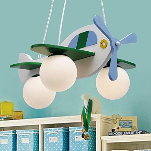 Guo Kinderzimmer-Lichter Jungen-Raum-Flugzeug-Lichter Kronleuchter-Pers5onlichkeit-kreative Eisen-Lampen E27 Lampen-Hafen - 2