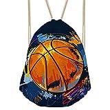 CHAQLIN Rucksack, Basketball-Design, für Reisen und Sporen, Damen, S-CC2275Z3, Basketball-2, S