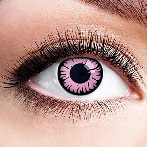 Farbige Kontaktlinsen Pink Rosa Ohne Stärke Motiv Eye Linsen Halloween Karneval Fasching Cosplay Kostüm Eyes Pinke Augen Daisy Flower Einhorn