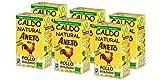 Aneto 100% Natural - Caldo de Pollo Ecológico - caja de 6 unidades de 1 litro