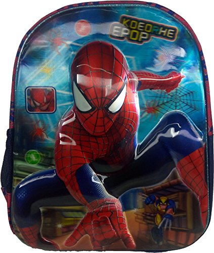 3D Spiderman Doraemon Dorimon Red & Blue Children's / kid's Backpack, school bag for class / standard Play School, Pre Nursery, Nursery, KG, UKG, LKG class for boys & girls 8 Liter, 13 Inch. For children ages 2 to 5 years  available at amazon for Rs.499