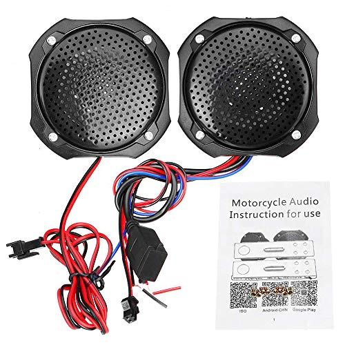 AIJICHE 1 Paar Universal 12V Motorrad Lautsprecher wasserdicht USB ATV MP3 Musik Player Bluetooth Stereo FM Radio für Honda