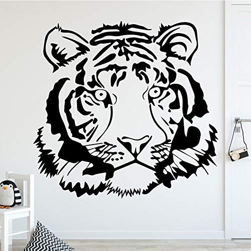 Kreative Fierce Tigers Wandaufkleber für Wohnkultur Wohnzimmer Jungen Zubehör Aufkleber Wasserdicht Vinyl Kunst Aufkleber Aufkleber XL 58 cm X 55 cm