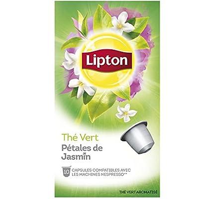Lipton Thé Vert Pétales de Jasmin 10 Capsules Compatibles Nespresso 30 g