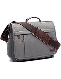 LOSMILE Umhängetaschen Herren Schultertasche Canvas Groß, Laptoptasche 15.6 Zoll, Kuriertasche,messenger bag.