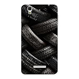 Delighted Knot Tyre Back Case Cover for YU Yureka Plus