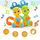 Winkey Toy for Baby kids Boy Girl, 1PC Plastic Handheld Baby Rattle Mobile Phone Bell Shake Bell Baby Toy Music