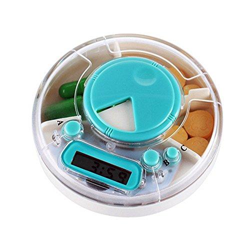 XIHAA Digital Für Intelligenz Timing Pille Fällen Elektronik Medizin Box Wöchentlich Rotierenden Pille Dispenser Vitamin Halter Timer Alarm Erinnerung Container - Pille-dispenser-timer