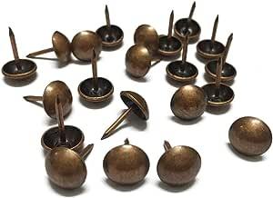Argent//100 Pi/èces 11mm//12mm//16mm//25mm//40mm Punaises de Tapisserie Vintage Clous de Meubles YOFASEN 10-200 Pi/èces Clous de Tapissier