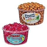 Haribo Flamingos und Maoam Cola Kracher, 2er Set, Gummibärchen, Weingummi, Fruchtgummi