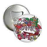 Lucky Cat Sakura Japan Bambus rund Flaschenöffner Kühlschrank Magnet Pins Badge Button Geschenk 3
