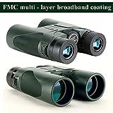 USCAMEL Fernglas Testsieger, 10x42 Wasserdicht Metallische Spiegelkörper Grüner Film Hohe Binoculars Vergleich