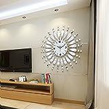 Moderno, Minimalista moda creativa soggiorno specchio orologio da parete muto orologio al quarzo–Orologio