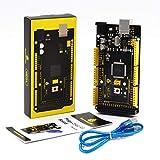 KEYESTUDIO Kompatibler Mikrocontroller Mega2560R3 Board ATmega2560 mit USB Kabel für Arduino Mega2560