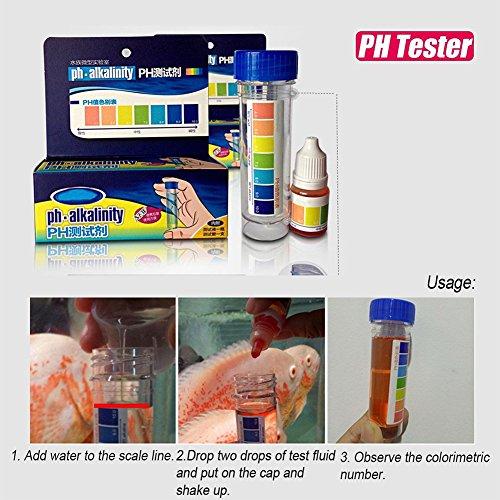 Qiyun accessori acquario,kit pulizia acquario,Acquario Fish Tank PH NO2 NO3 Kit di test di qualità dell'acqua