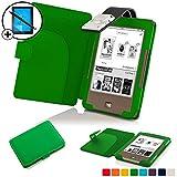 Forefront Cases® Tolino Page Shell Hülle Schutzhülle Tasche Bumper Folio Smart Case Cover Stand mit LED Licht - Leicht mit Rundum-Geräteschutz inkl. Eingabestift und Displayschutz (Grün)