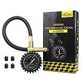 GAMPRO Manometro per pneumatici 100 PSI, manometro per carichi pesanti con scale luminose e pulsante di rilascio pressione per auto camion moto SUV RV ATV bicicletta