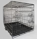"Very Strong 3 Door Heavy Duty Galvanised Dual Coated 36"" Dog/Puppy Cage"