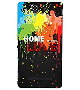 PrintDhaba Quote D-3451 Back Case Cover for SONY XPERIA C3 (Multi-Coloured)