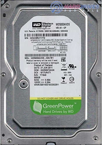 Western Digital AV-GP WD5000AVDS 500GB SATA/300 IntelliPower 32MB Hard Drive(Desktop HDDs, Set top box HDDs, Play Station HDDs, hard disk drives,surviellance hdds,dvr hard disks)