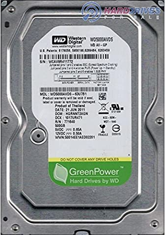 Western Digital AV-GP 3.5 inch 500GB Intellipower RPM Internal Hard