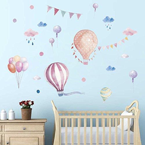 Cartoon Heißluftballon Wandaufkleber Tapete DIY Vinyl Home Wandtattoos Kinder Wohnzimmer Schlafzimmer Mädchen Room Decor (Room Decor Mädchen)