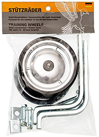 PROMETHEUS Stabilisers for kids bikes | Universal Junior Wheel Stabiliser Set suitable for most 12