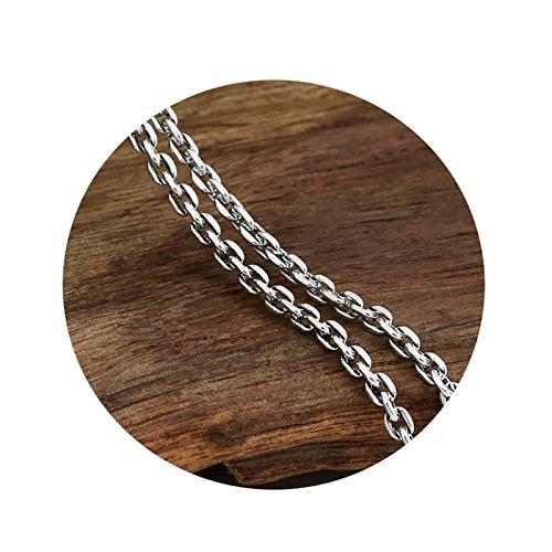 Coniea Herren Halskette Vintage Runde Kette Anhänger Halskette 925 Halskette 75CM