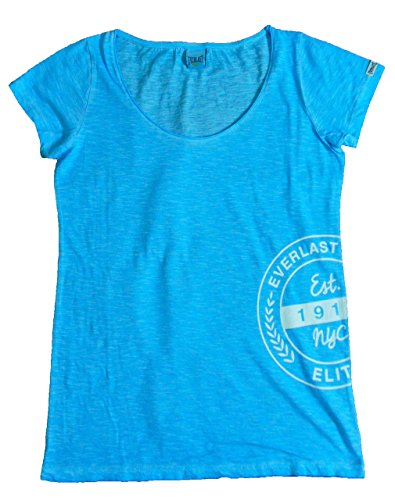 Everlast T-Shirt Femme 22 W645g67 Jersey Slub Coll Dyed Bleu néon (fluo Heavenly) turquoise