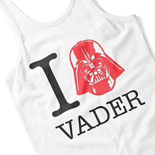 Star Wars Rogue One I Heart Darth Vader Black Men's Vest White