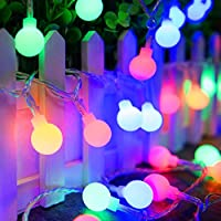 String Lights, ADORIC Festoon Lighting 10M 100 LED Battery Operated Globe Lights Waterproof, 8 Modes Lighting, Outdoor and Indoor Decoration for Halloween, Christmas, Festivals