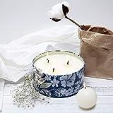 Duftkerze Soja Kerze Groß 400g 3 Dochte, Baumwolle Duft Natürliches Aromatherapie Mama - 3