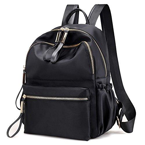 4d2f476829 AMUSTER Tracolla Pelle Vera Elegante Moda Casual Nylon Oxford Cloth Zaino  Donne Zaino College Vento Bag
