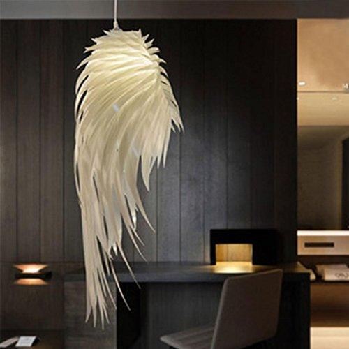 10 Licht Kronleuchter (SHIQUNC Engel Flügel Kronleuchter Moderne kreative Feder Kronleuchter Restaurant Wohnzimmer Schlafzimmer Hotel Dekorative Lichter Leistung 10W)